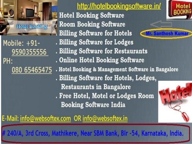 Billing Software For Hotels Lodges Restaurants