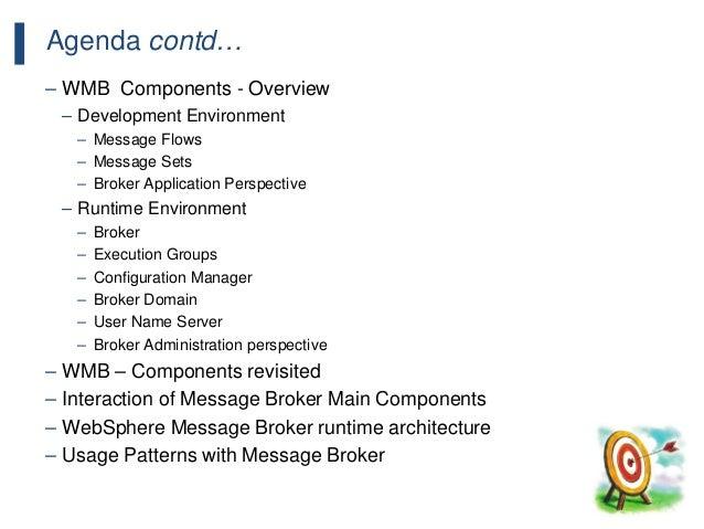 116 Agenda contd… – WMB Components - Overview – Development Environment – Message Flows – Message Sets – Broker Applicatio...