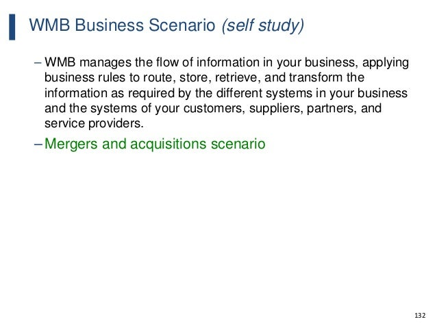 132 WMB Business Scenario (self study) – WMB manages the flow of information in your business, applying business rules to ...