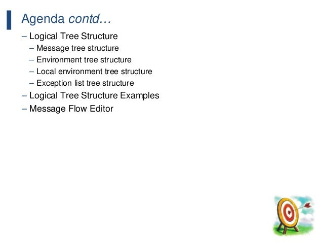 198 Agenda contd… – Logical Tree Structure – Message tree structure – Environment tree structure – Local environment tree ...