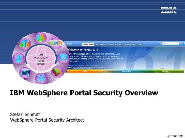 Websphere Portal V6.1 Security Overview