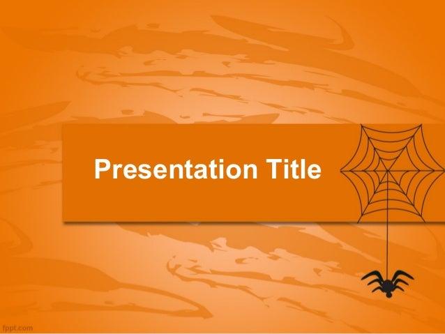 2013 halloween ppt presentation web and spider halloween powerpoint