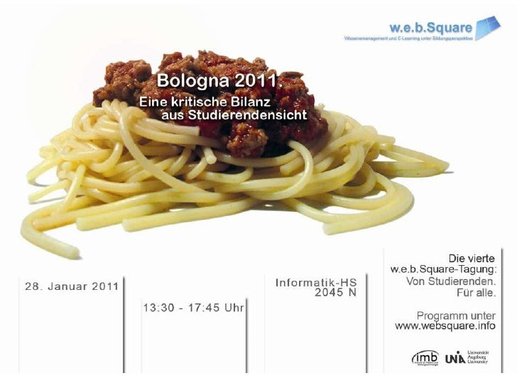 Flyer zur 4. w.e.b.Square-Tagung am 28.1.2011