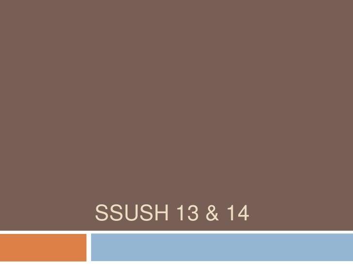SSUSH 13 & 14