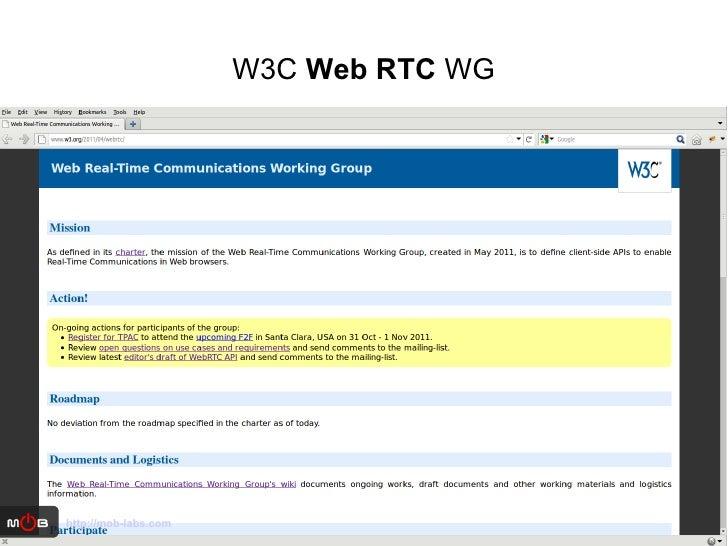 W3C  Web RTC  WG http://mob-labs.com