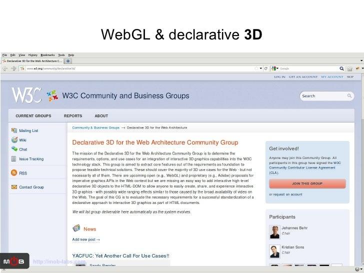 WebGL & declarative  3D http://mob-labs.com