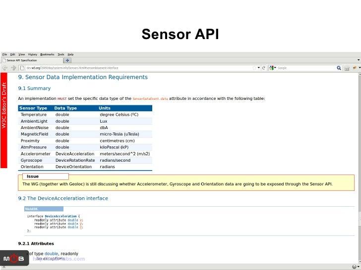 Sensor API http://mob-labs.com