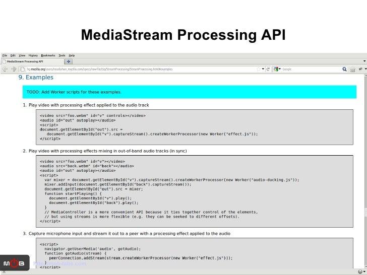 MediaStream Processing API http://mob-labs.com