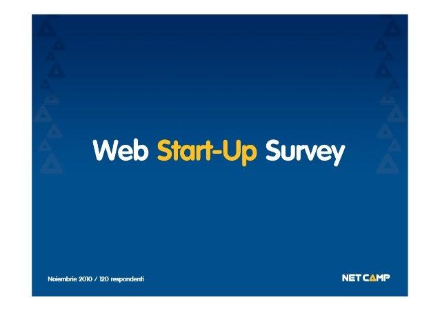Web Start-Up Survey 2010
