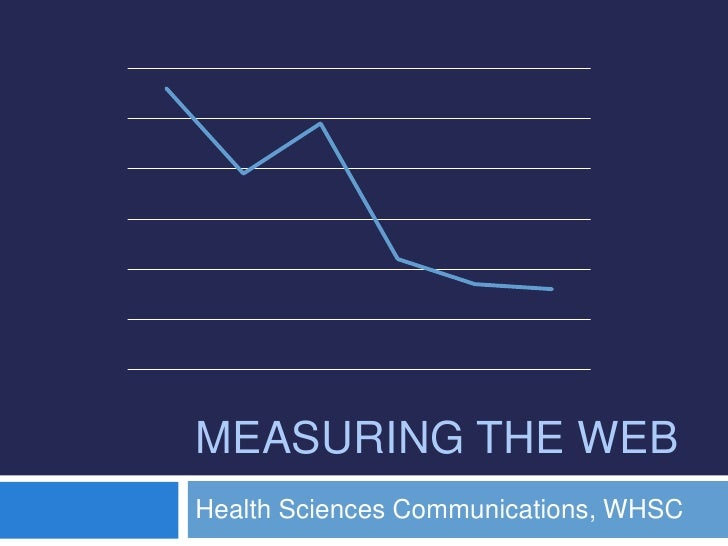 Measuring the web<br />Health Sciences Communications, WHSC<br />