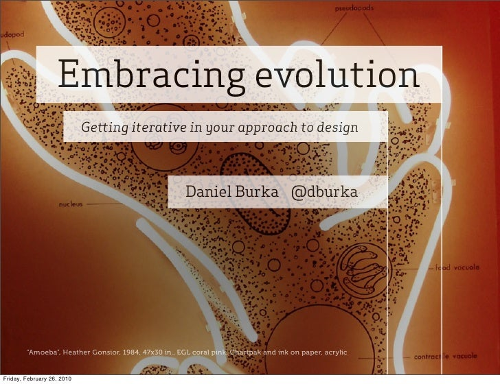 Embracing evolution                             Ge ing iterative in your approach to design                               ...