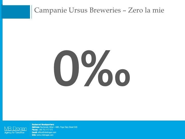 Campanie Ursus Breweries – Zero la mie 0‰