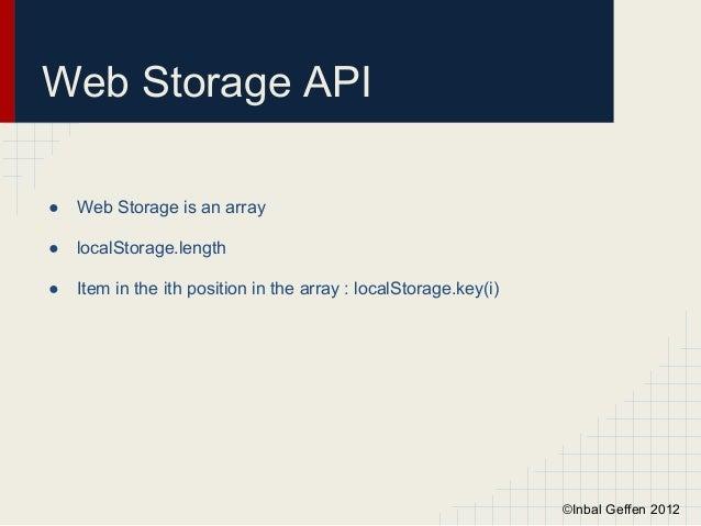 Web Storage & Web Workers