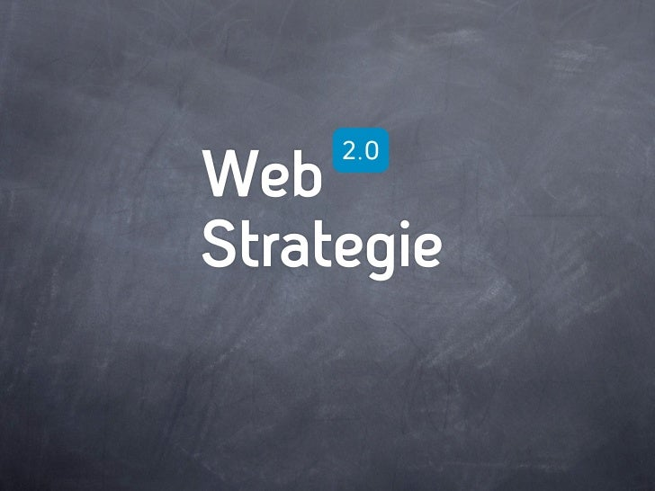Web     2.0Strategie