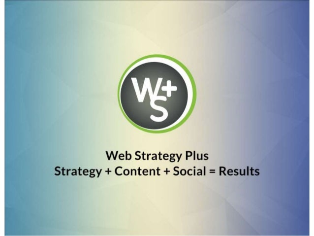 Web Strategy Plus Media Kit