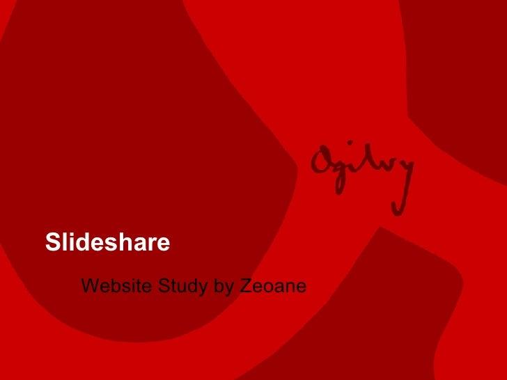 Slideshare Website Study by Zeoane