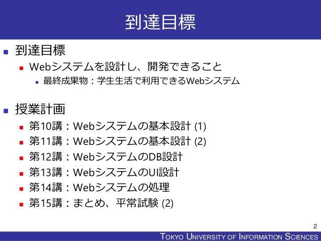 Webシステムプログラミング設計書2015 Slide 2