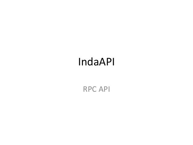 IndaAPIRPC API