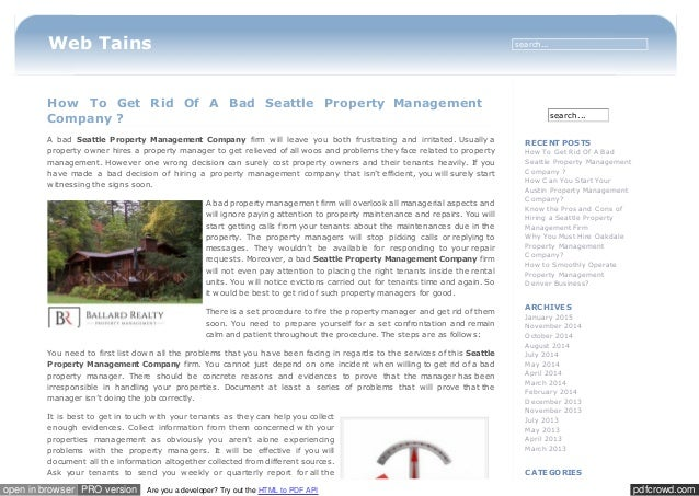 where to report bad property managers