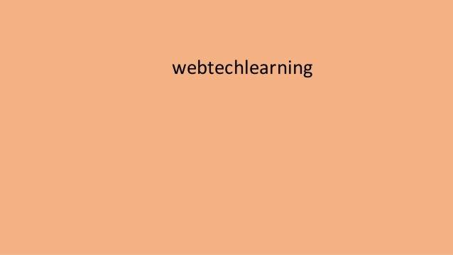 webtechlearning