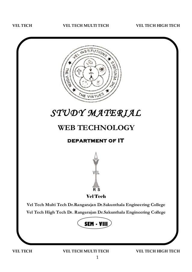 VEL TECH              VEL TECH MULTI TECH                VEL TECH HIGH TECH                STUDY MATERIAL                 ...