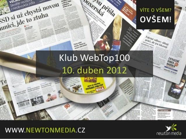 Klub WebTop100 10. duben 2012