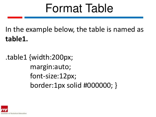 Html table cell width auto phpsourcecode net for Table font size css