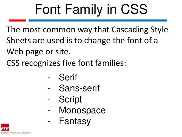 Web topic 17  font family in css Slide 3