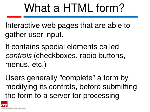 Web topic 20 1  html forms Slide 3