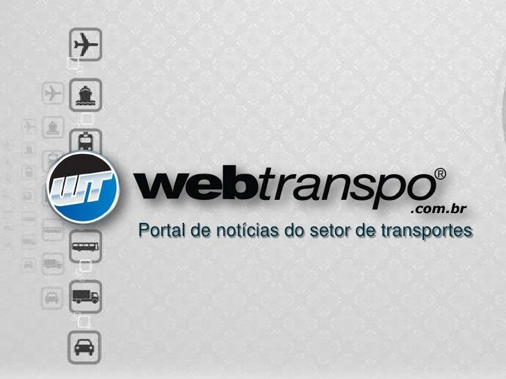 Portal de notícias do setor de transportes