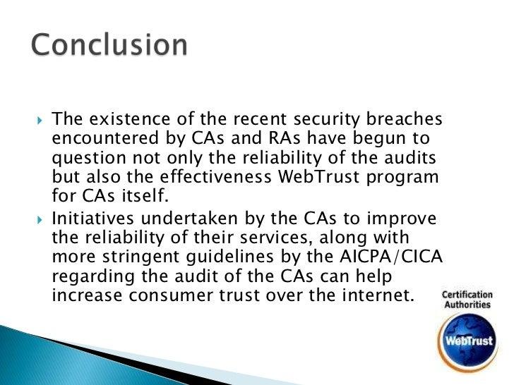Webtrust For Certification Authorities