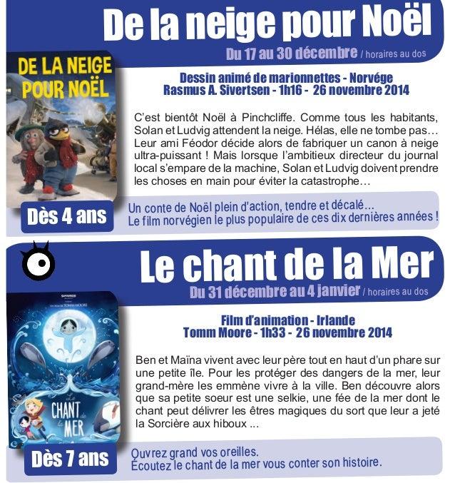 Cinéma Jeune public - MCL de Gérardmer - Fin 2014 Slide 3