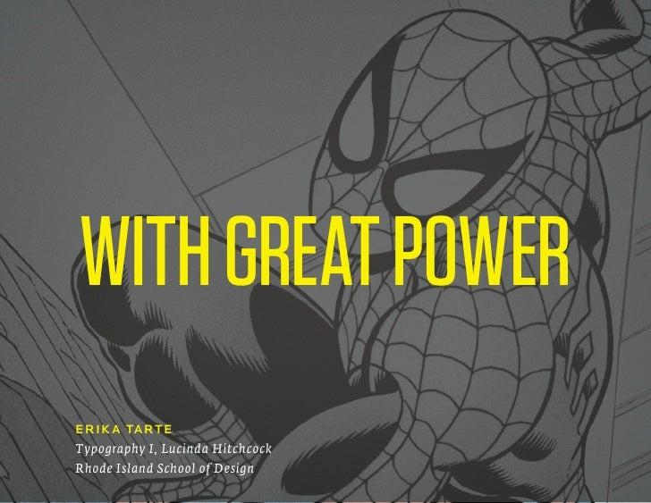 With Great Power, a lecture on web typography