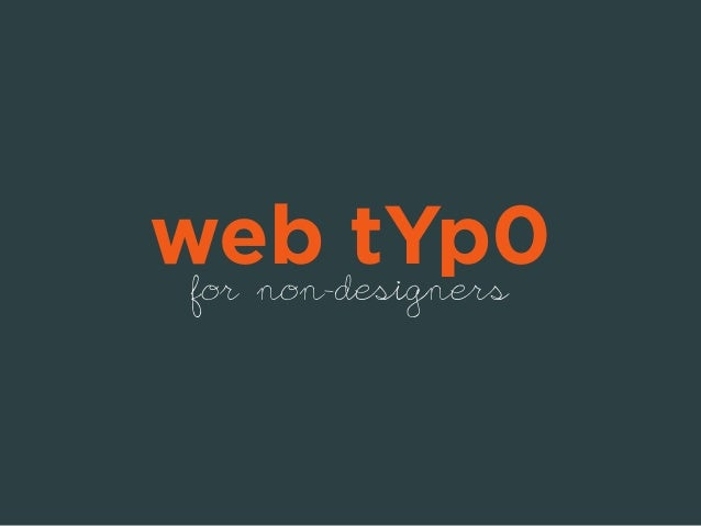 web tYp0  for non-designers