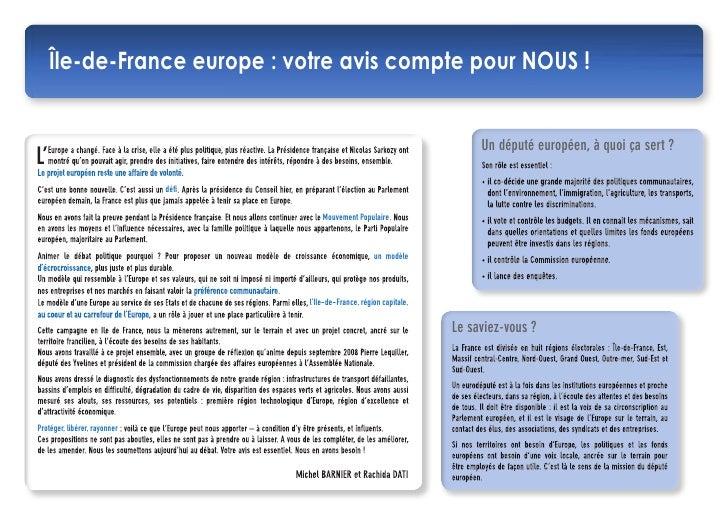 Notre projet européen pour l'Ile de France Slide 2