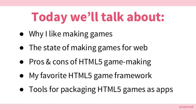 Making Native Browser Games in The Modern Age Slide 3