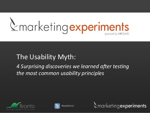 The Usability Myth:4 Surprising discoveries we learned after testingthe most common usability principles                  ...