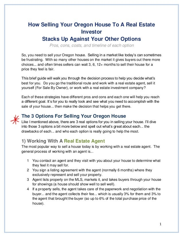 We buy houses in oregon sell my house fast in oregon 1 how selling your oregon house to a real estate investor stacks up against your other solutioingenieria Image collections