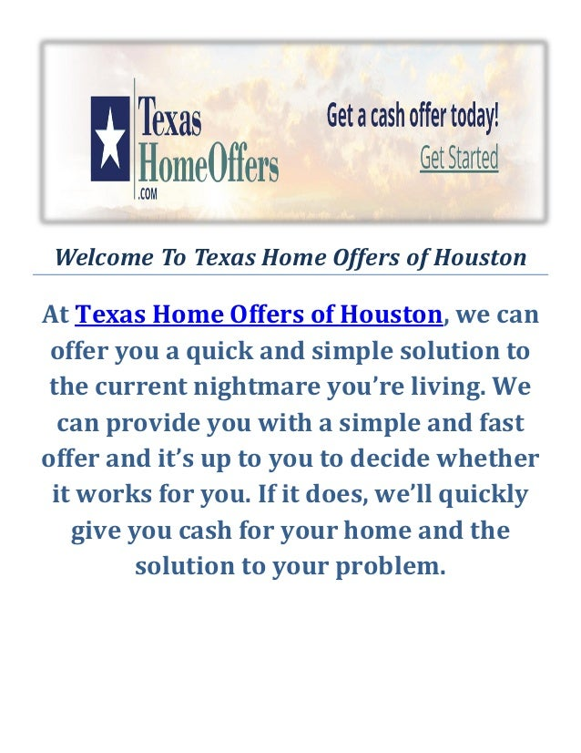 We Buy Ugly Houses Houston by Texas Home Offers of Houston