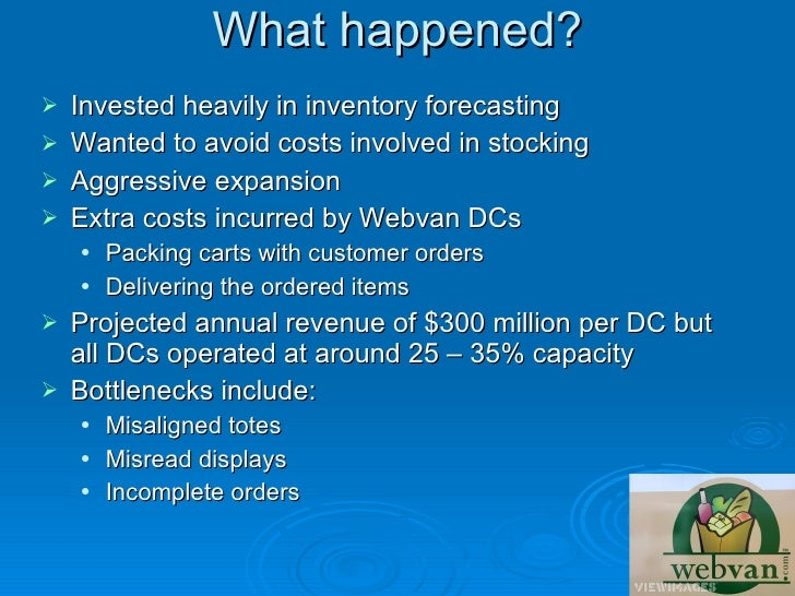 webvan failure Because if you're a small business owner and you don't fail once in a while,   coppy holzman, a founder of webvancom, learned a host of.