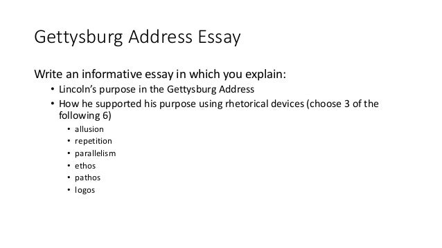 informative essay notes gettysburg address essay