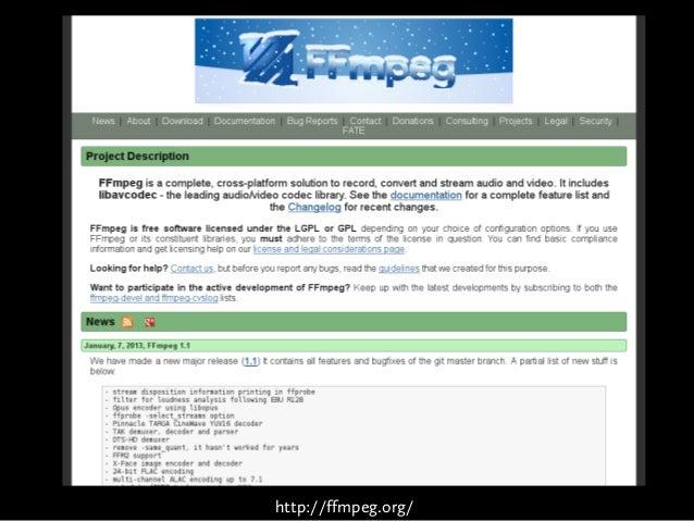 Webvideo, FFmpeg und Drupal