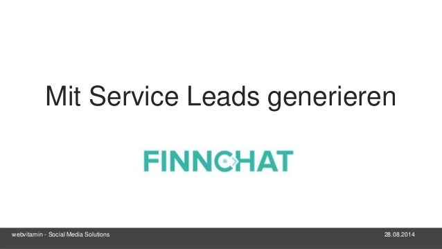 28.08.2014webvitamin - Social Media Solutions Mit Service Leads generieren