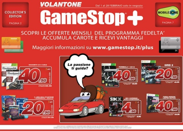 Volantone Febbraio 2014 - GameStop Italia!