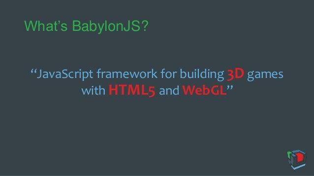 WebVR with Babylon.JS Slide 2