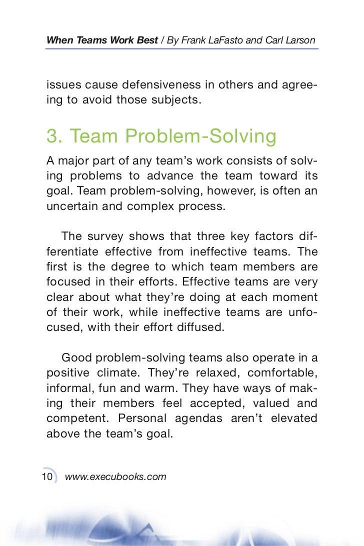 when teams work best 6 000 team members and leaders tell what it tak 10 when teams