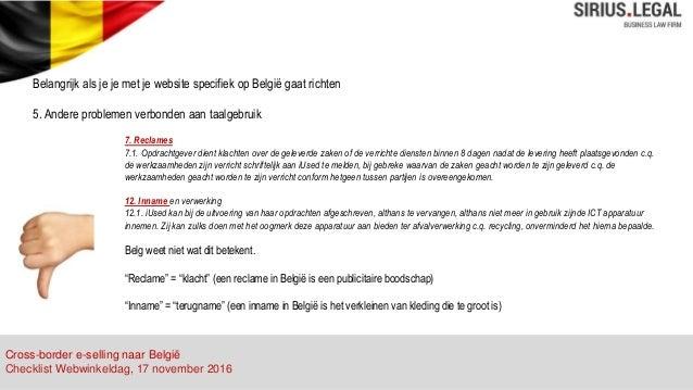 Nederlandse Kleding Webshops.Juridische Tips Voor Nederlandse Webshops Die Zich Op Belgie Richten