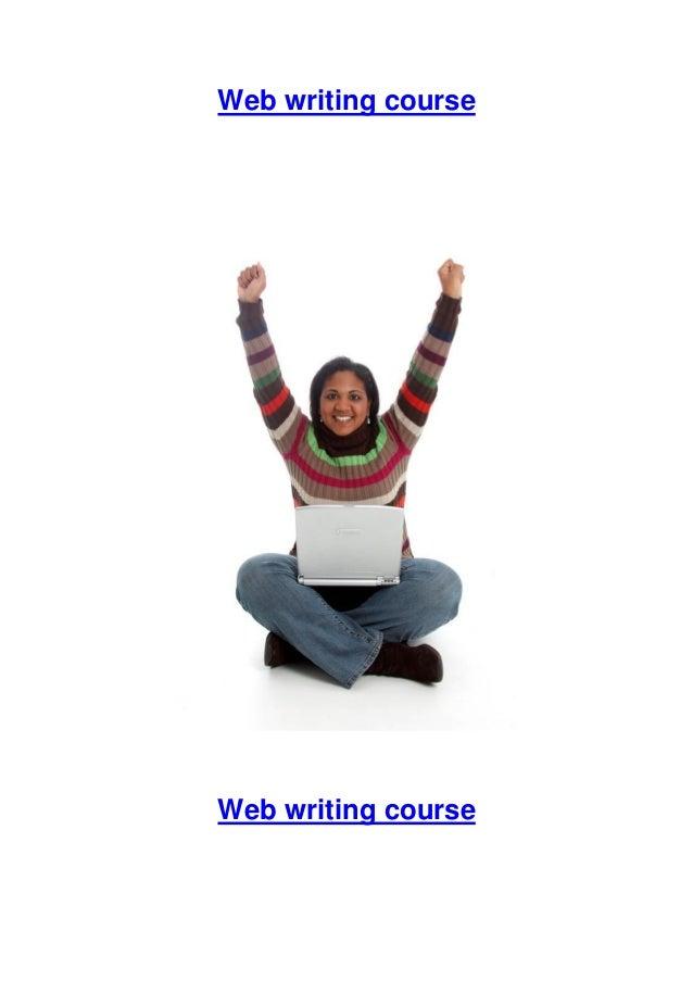 Web writing course Web writing course