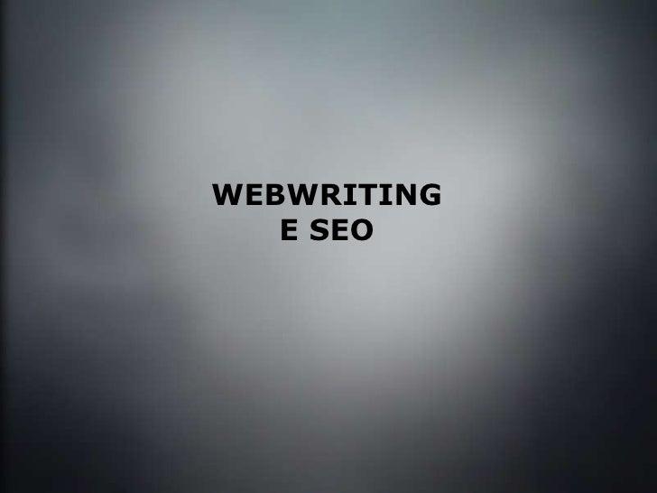 WEBWRITING E SEO
