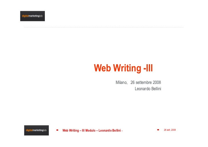 Web Writing Pills -links & lists